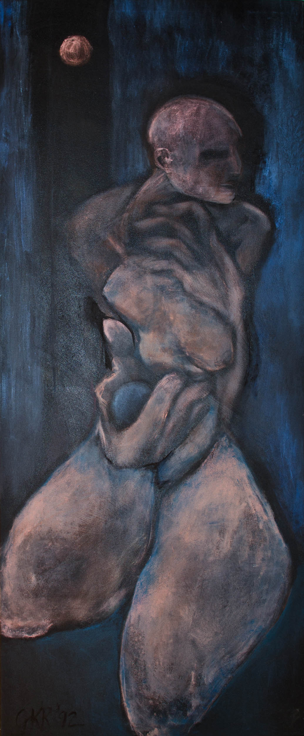 Mujer de la Luna, a painting by Kelly Rivera