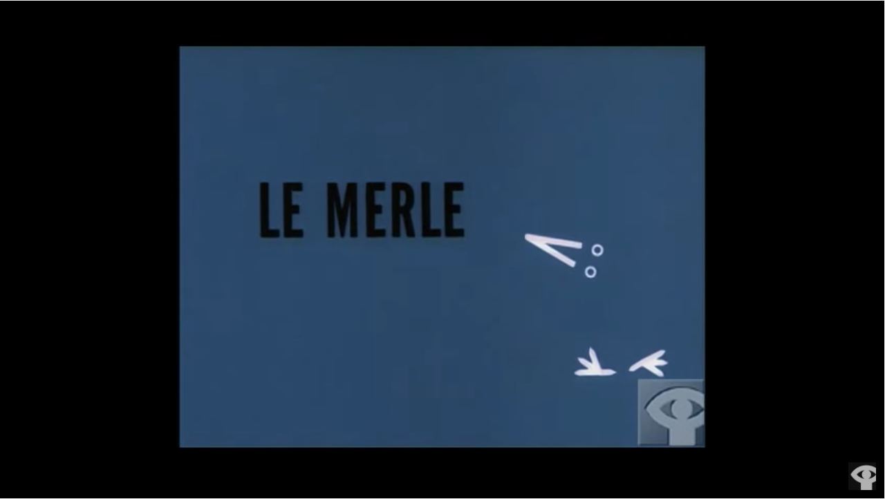 Norman McLaren animation from 1958 titled 'Le Merle'