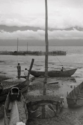 Wharf on Erhai Lake in Xizhou, China, 1999