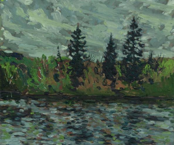 Muskoka River - Rainy Day, Huntsville ON