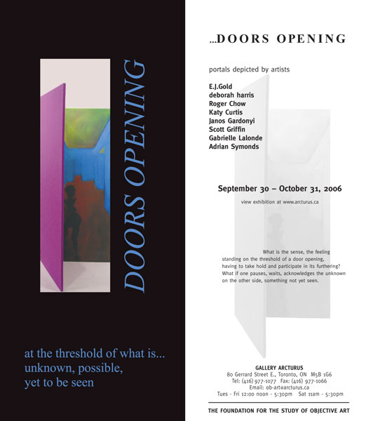 Doors Opening... at the theshold of what is