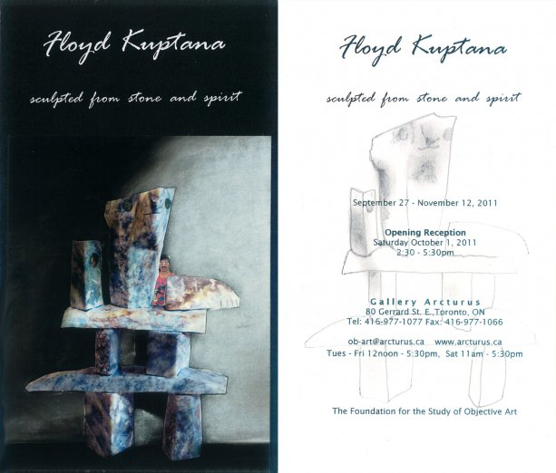Floyd Kuptana  ...  sculpted from stone and spirit