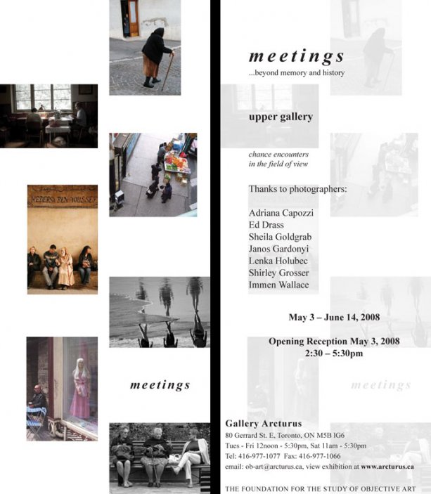 Meetings... beyond memory and history (upper gallery)